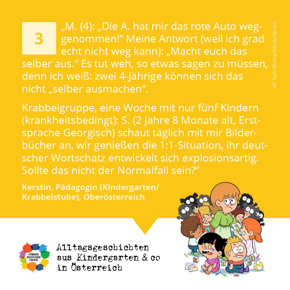 Alltagsgeschichten aus Kindergarten & co in Österreich (3)